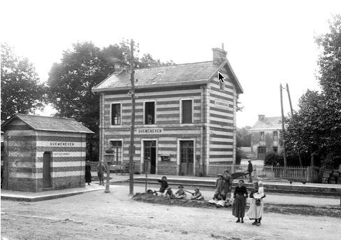 Gare de Quéménéven. Coll. Mairie de Quéménéven