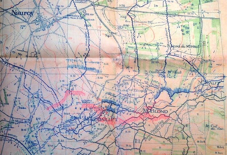 Sous-secteur du Mont Blond en mai 1917 - Coll. A. Madec