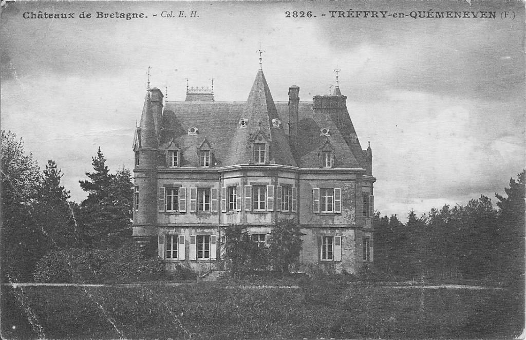 Le château de Tréfry au début de la guerre. Coll. Y. Le Grand