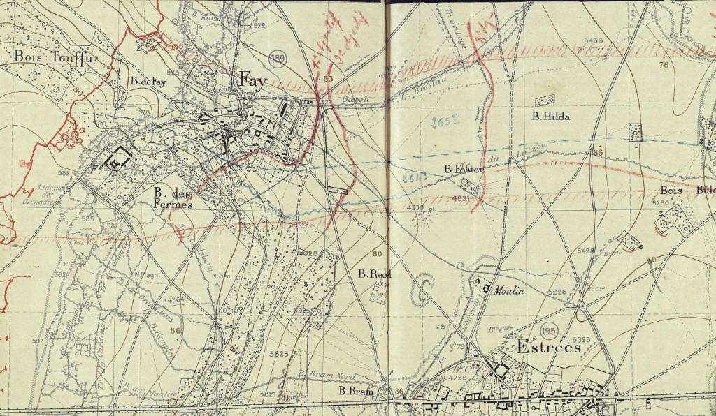 source : JMO de la 121e brigade sur le site Mémoire des Hommes