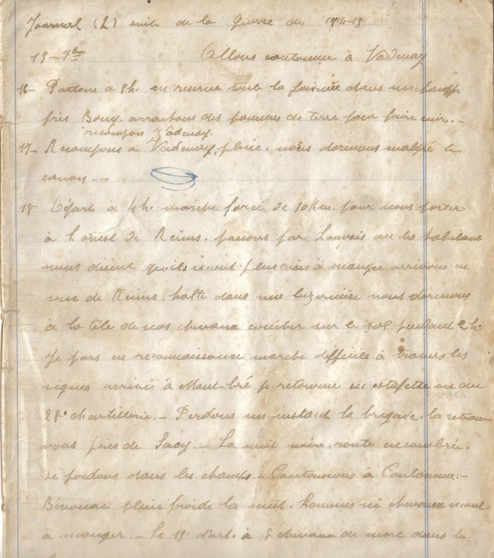 Première page du carnet de JJ Capitaine - Coll. Famille Capitaine-Pétillon, Coat Squiriou