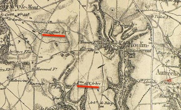 Secteur du Moulin-sous-Touvent. Extrait du JMO du 219e RI
