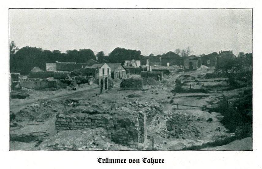 Tahure après les batailles de 1915 - source Europeana